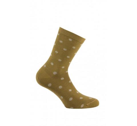 Mi-chaussettes pois Lurex en coton