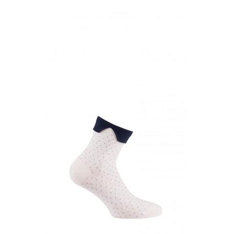 Socquettes plumetis col Claudine en coton