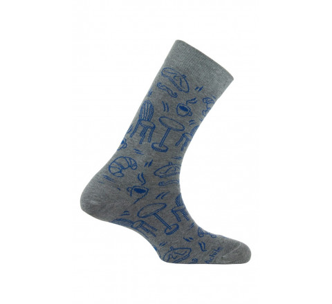 Mi-chaussettes modèle Bistrot coton