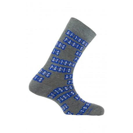 Mi-chaussettes modèle Embarquement coton