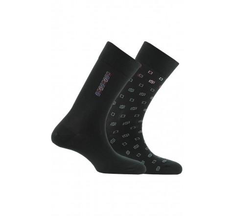 Lot de 2 paires de chaussettes fantaisies fabriquées en France