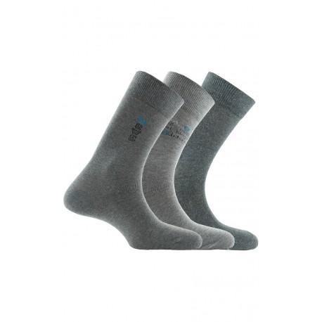 Pack 3 paires de mi-chaussettes en coton majoritaire