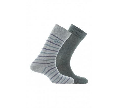 Pack de 2 paires de mi-chaussettes en coton