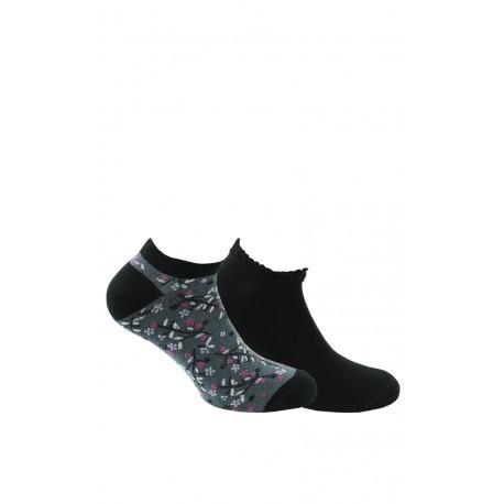 Chaussettes invisibles femme en lot de 2 coton