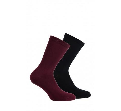 Pack de 2 paires de chaussettes unies Modal