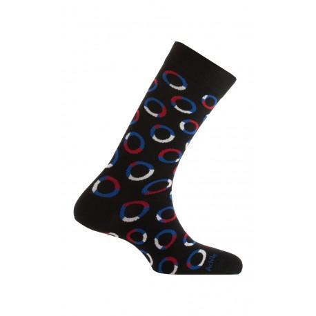 Mi-chaussettes modèle Expression en coton