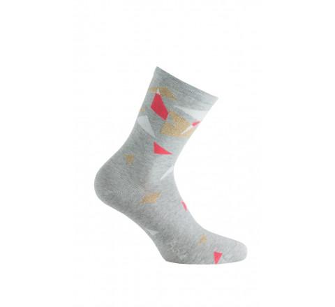 Mi-chaussettes modèle Color Block en coton