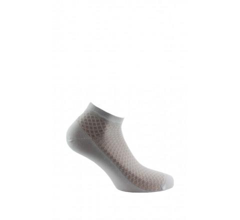 Chaussettes ultra-courtes fantaisies de mailles en Fil d'écosse