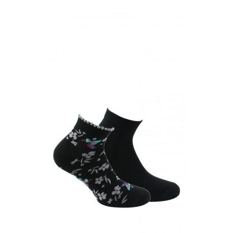 Chaussettes ultra-courtes femme en lot de 2 et en coton