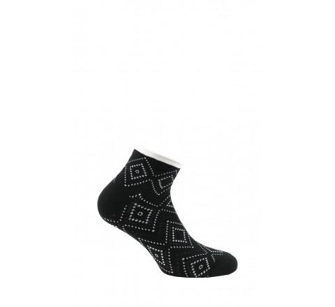 Chaussettes ultra-courtes fantaisies en Coton