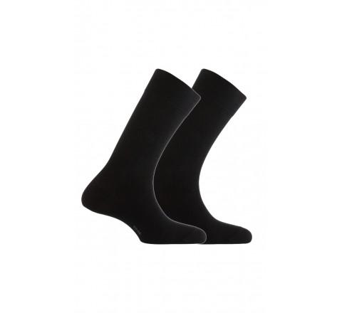 Pack de 2 paires de chaussettes unies en coton