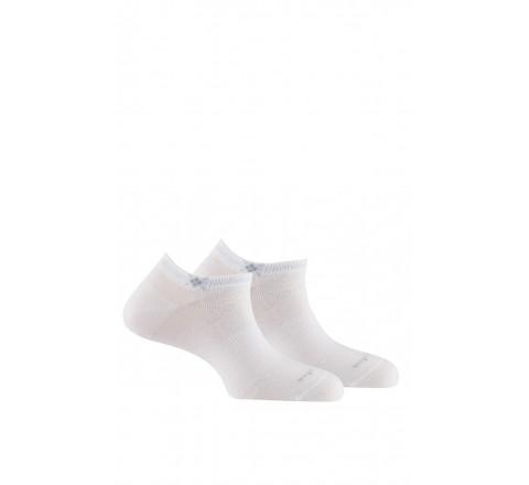 Pack de 2 paires de socquettes discrètes en coton