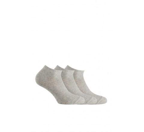 Lot de 3 paires de chaussettes invisibles en coton