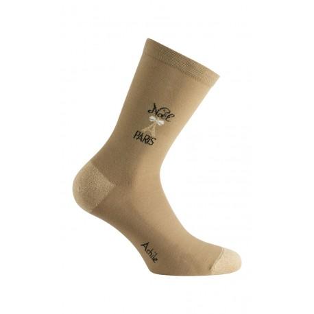 Mi-chaussettes modèle Noël à Paris en coton