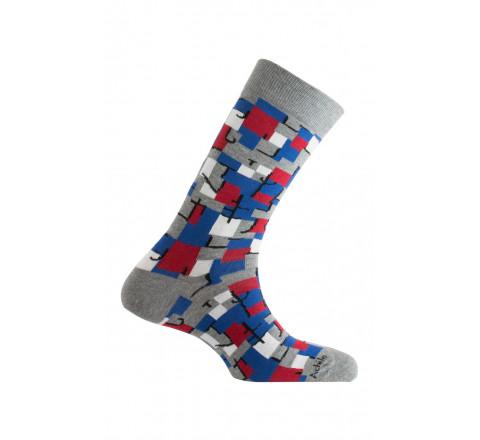 Mi-chaussettes modèle Cubisme en coton