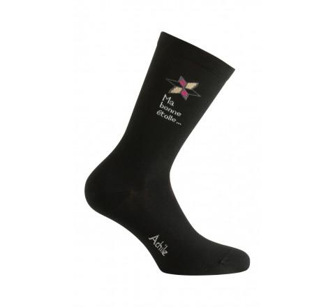 Mi-chaussettes modèle Bonne étoile en coton