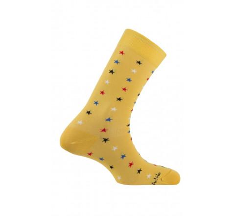 Chaussettes motif étoiles en fil d'écosse