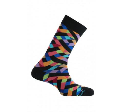 Chaussettes motif géométriques en fil d'écosse