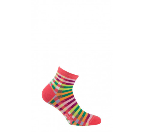 Socquettes motif Madras en coton
