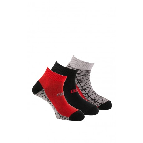 Lot de 3 paires de quarter fantaisie Sport Fashion en coton