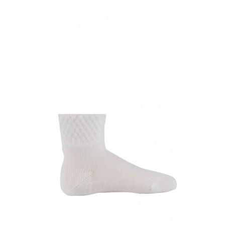 Chaussettes bords fantaisies en coton