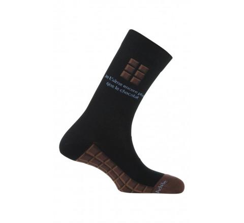 Mi-chaussettes Chocolat en coton