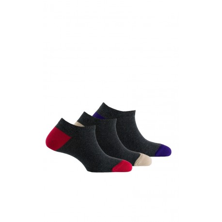Chaussettes invisibles talons et pointes de couleur X3