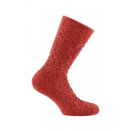 Mi-chaussettes avec bouclette en viscose et laine