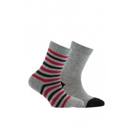 Pack de 2 paires de mi-chaussettes fantaisies en coton