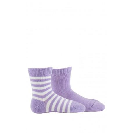 Pack de 2 paires de chaussettes bébé pur coton