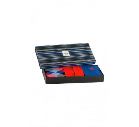 Coffret cadeau 3 paires de chaussettes colorées