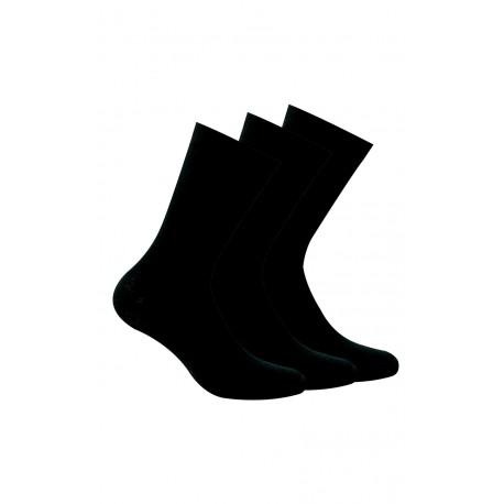 Lot de 3 paires chaussettes unies