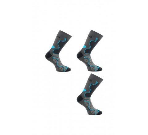 Lot de 3 paires de chaussettes Double-Trek pour randonnée