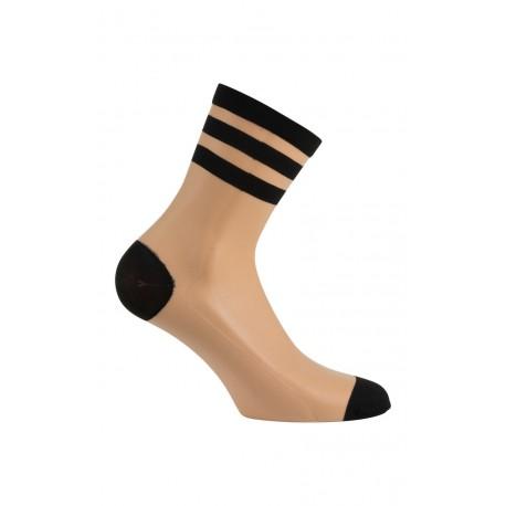 Socquettes en voile avec rayures