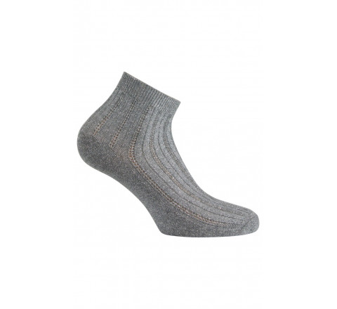 Chaussettes ultra-courtes argentées