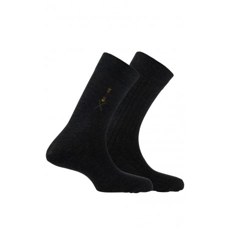 Pack de 2 paires de chaussettes fantaisies en coton