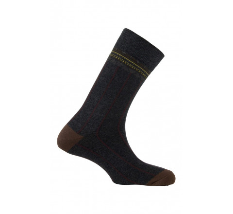 Chaussettes effet côtes et bracelet en coton
