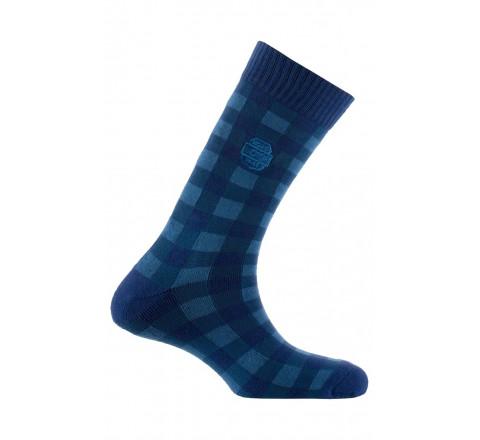 Chaussettes avec surbroderie en coton
