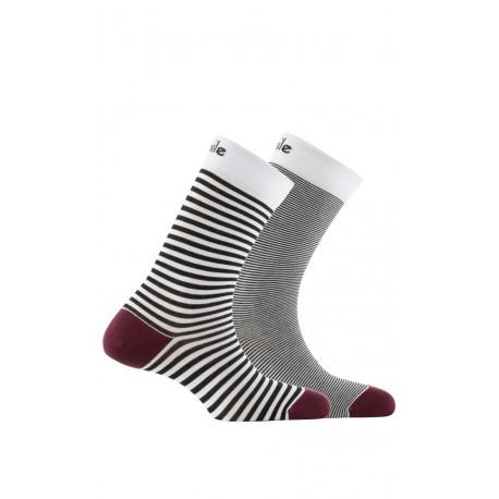 Mi-chaussettes dépareillées en coton fil d'écosse