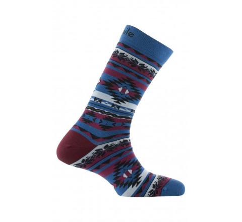 Mi-chaussettes dessins nordiques en polyamide