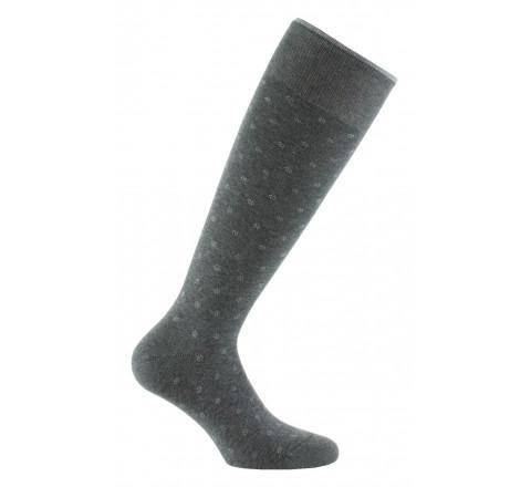 Chaussettes hautes plumetis en pur coton