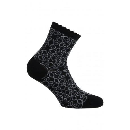 Chaussettes courtes fantaisies en fil d'écosse