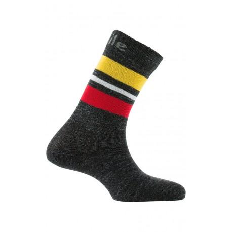 Mi-chaussettes rayures en laine et coton
