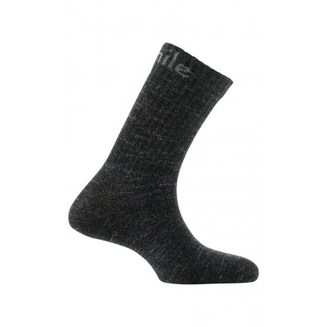 Mi-chaussettes à côtes en laine et coton