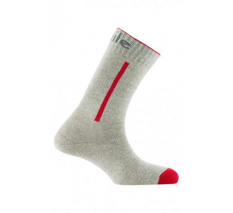 Mi-chaussettes baguette couleur en laine et coton