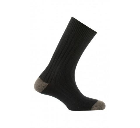 Chaussettes à côtes en laine et acrylique