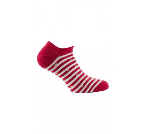 Chaussettes invisibles Marinières en coton