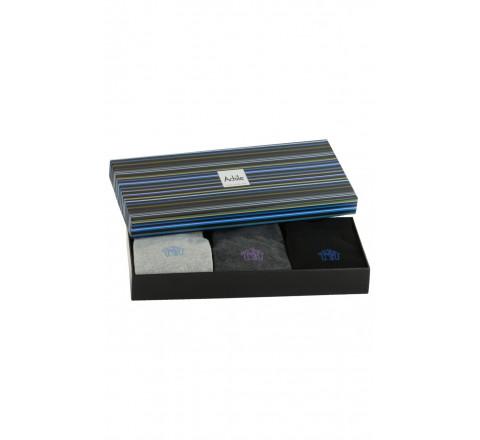 Coffret cadeau 3 paires de chaussettes Petit Logo