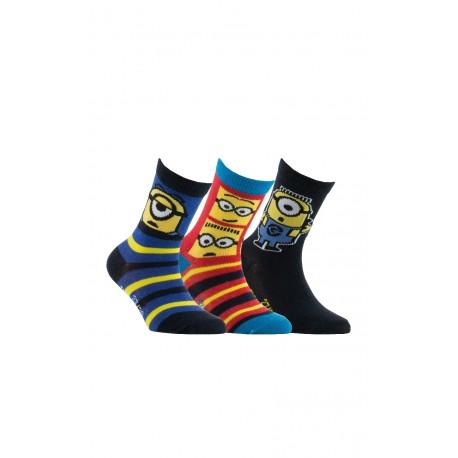 Lot de 3 paires de chaussettes Les Minions