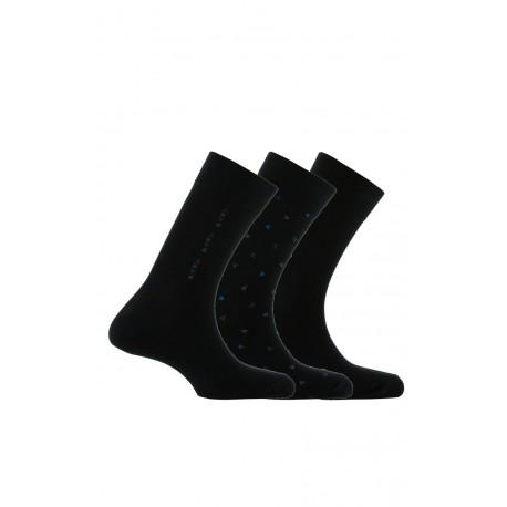 Pack 3 paires de chaussettes en coton